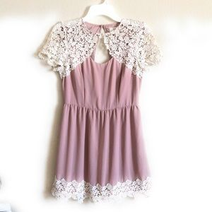 Anthropologie Pins and Needle Flare Dress Medium